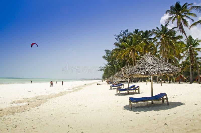 Litoral em Zanzibar imagens de stock