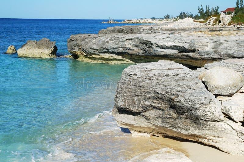Litoral grande do console de Bahama imagem de stock royalty free