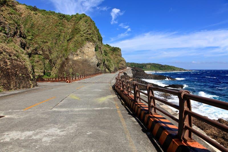 Litoral, ilha verde, Taiwan imagens de stock