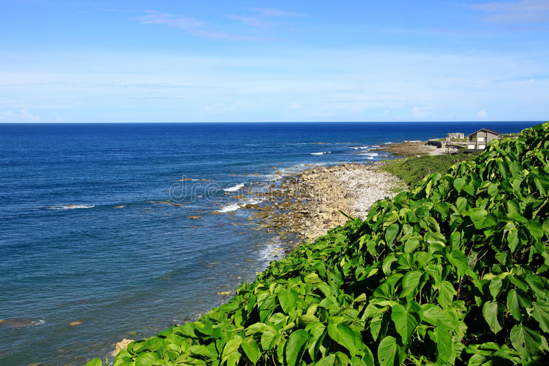 Litoral, ilha verde, Taiwan imagem de stock royalty free