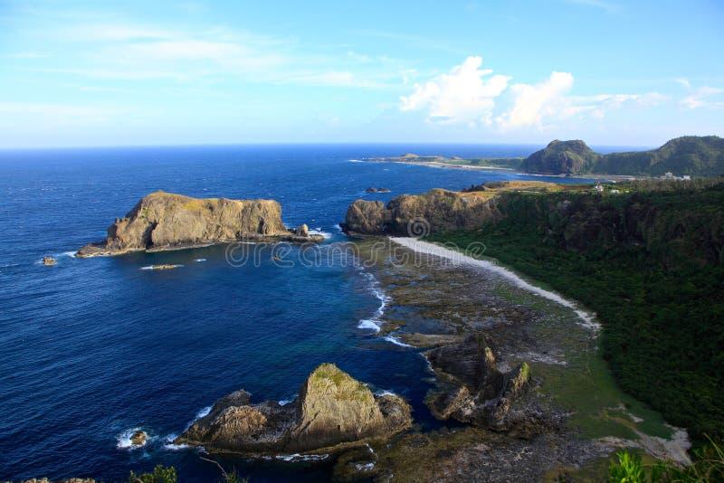 Litoral, ilha verde, Taiwan imagem de stock