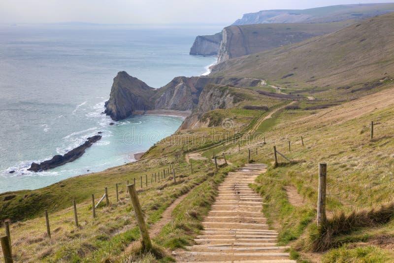 Litoral jurássico, Dorset imagens de stock