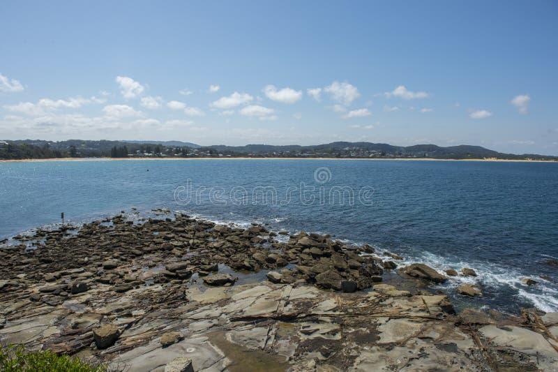 Litoral na praia de Terrigal foto de stock