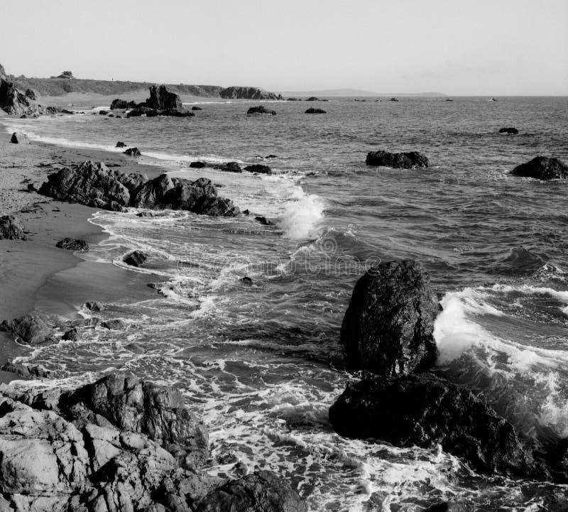 Litoral perto da baía Califórnia da adega fotografia de stock