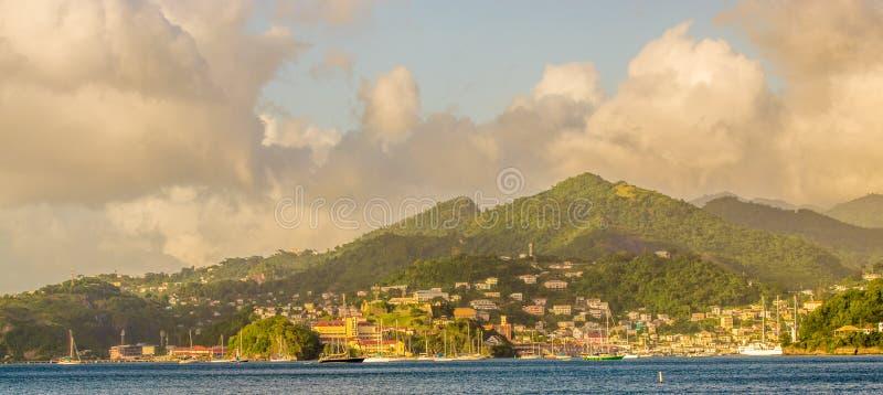 Litoral St George de Grenadan foto de stock
