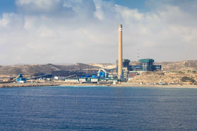 Litoral Thermal Power Station: Carboneras power plant. In Almería coast, Andalusía, Spain. The Thermal Power Station was the answer to the growing demand stock photos