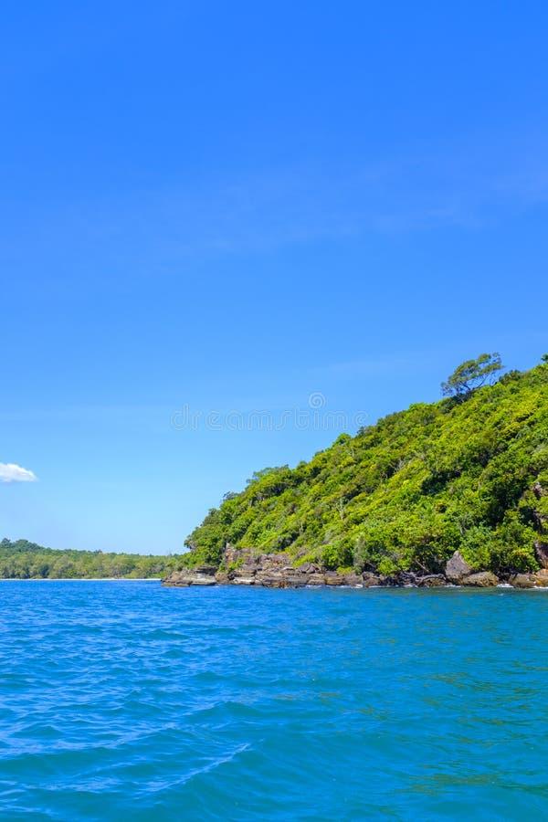 Litoral tropical da ilha fotografia de stock royalty free