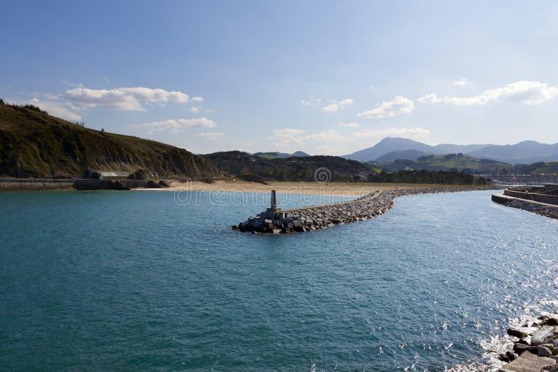 Litorale Basque di Anglet a Debat immagine stock