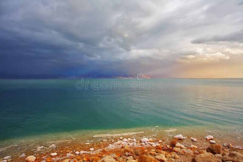 Litorale del mare guasto nell'Israele fotografia stock