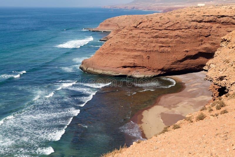 Litorale del Marocco Atlantico fotografia stock libera da diritti