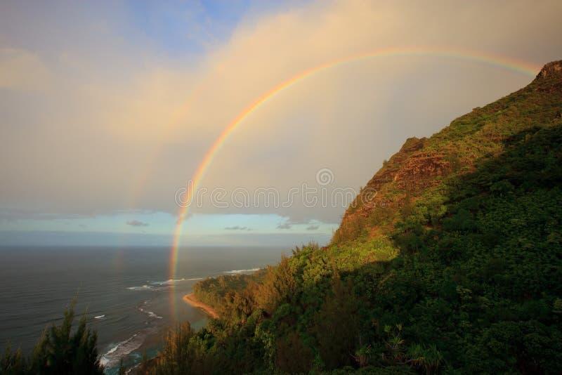 Litorale del Na Pali immagini stock libere da diritti