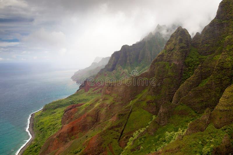 Litorale del Na Pali, Kauai immagini stock libere da diritti