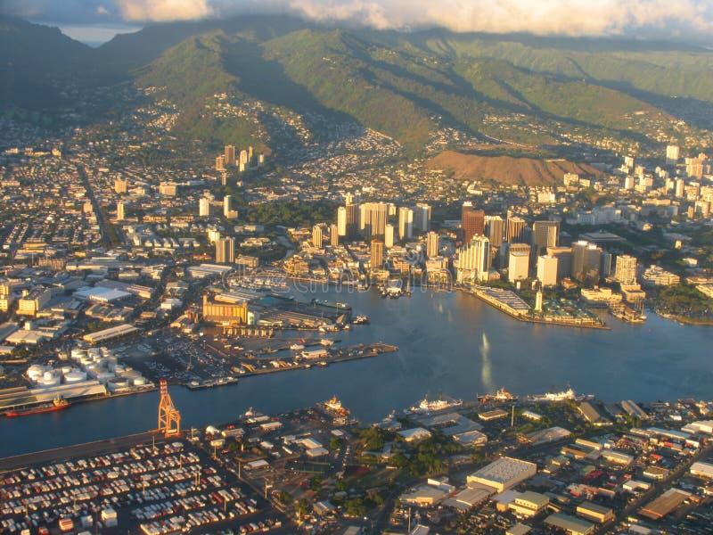 Litorale dell'Hawai e Mountain View fotografia stock libera da diritti