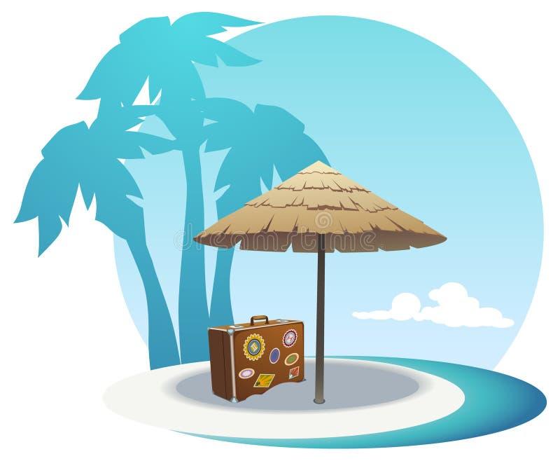 Litorale dell'isola illustrazione vettoriale