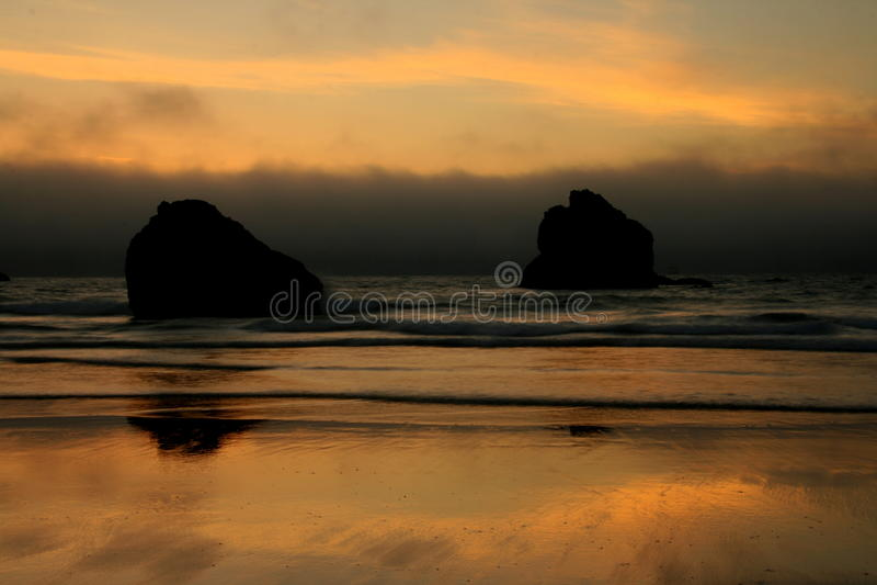 Litorale dell'Oregon fotografia stock libera da diritti