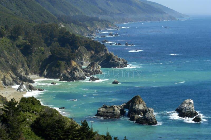 Litorale della California fotografia stock