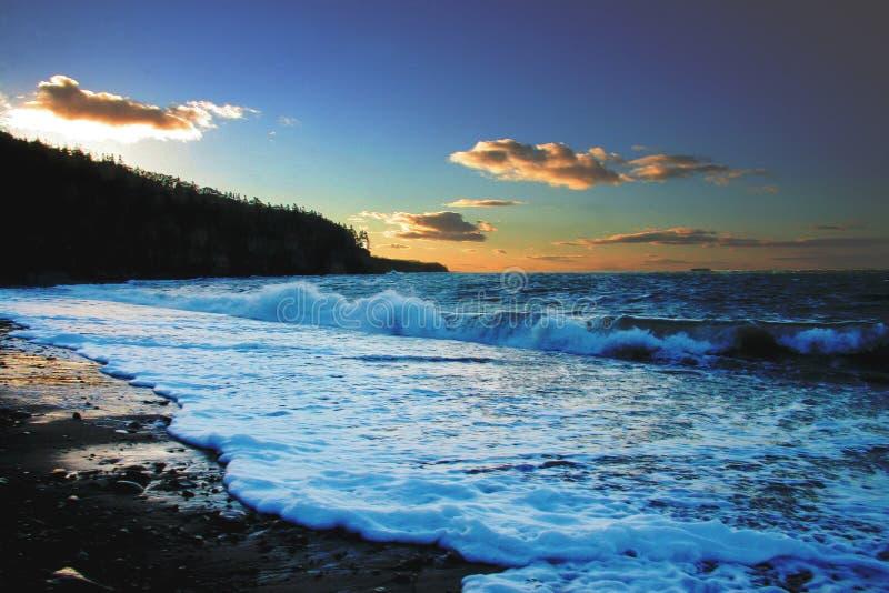 Litorale della Nuova Scozia del porto dei corridoi fotografia stock libera da diritti