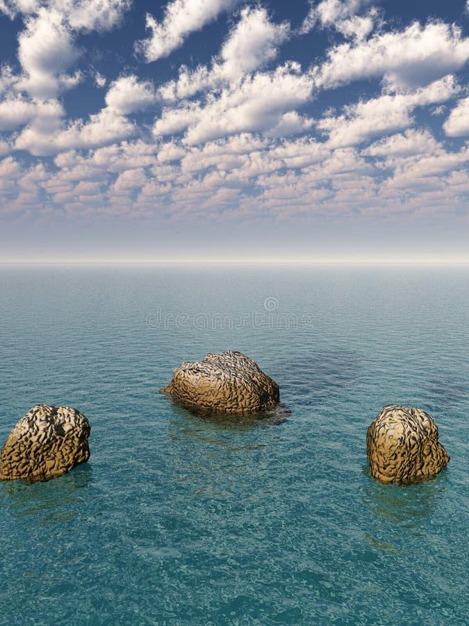 Litorale della roccia royalty illustrazione gratis