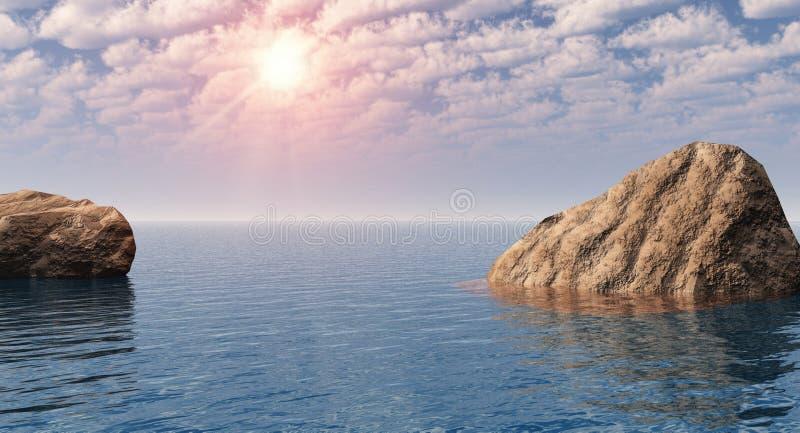 Litorale della roccia illustrazione di stock