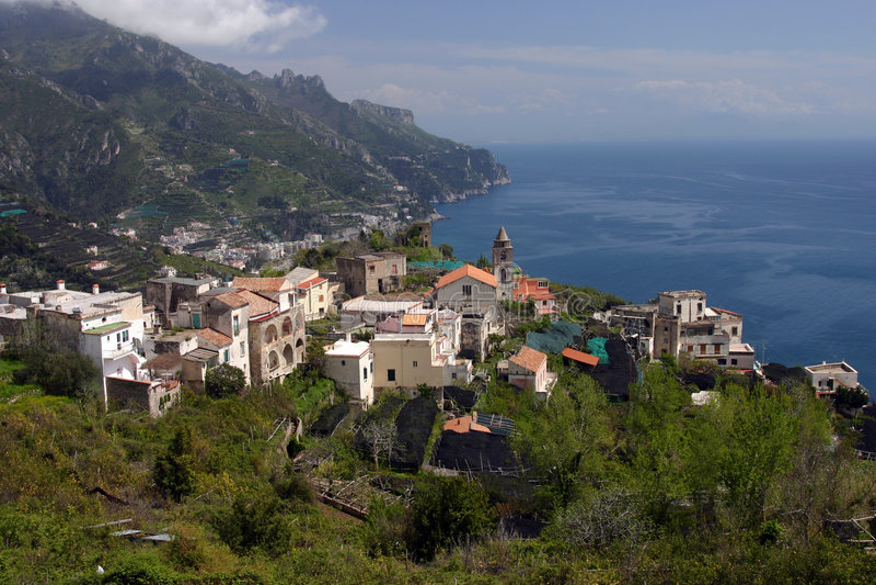 Litorale di Amalfi fotografie stock
