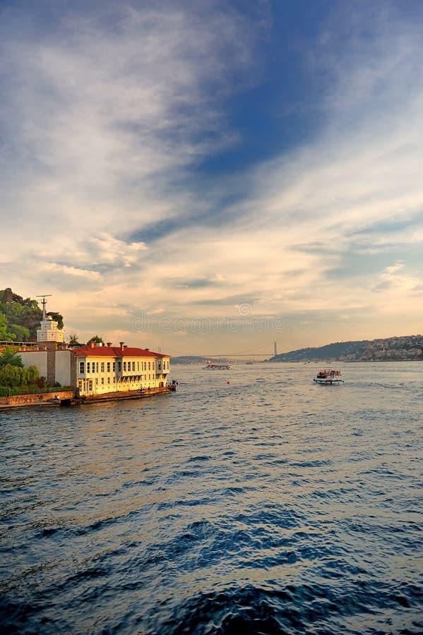 Litorale di Bosphorus fotografie stock