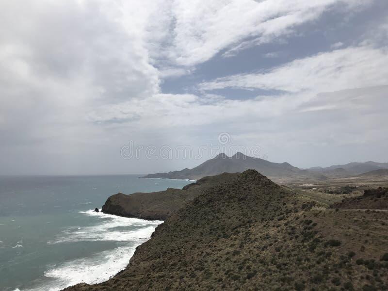 Litorale di Cabo de Gata immagini stock