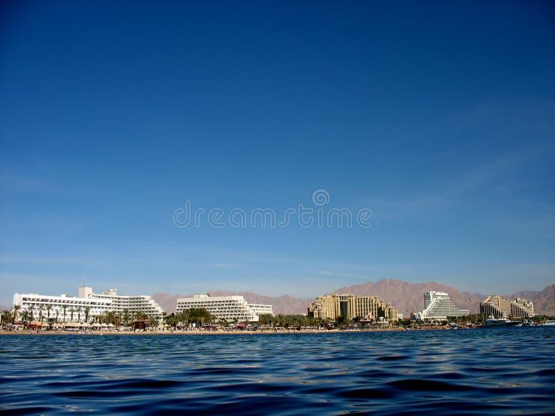 Litorale di Eilat immagine stock