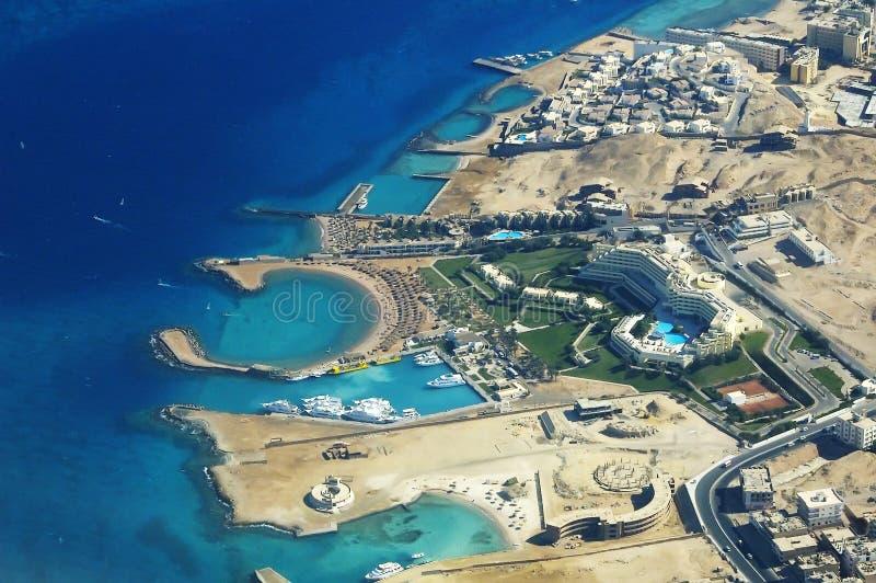 Litorale di Hurghada fotografia stock libera da diritti
