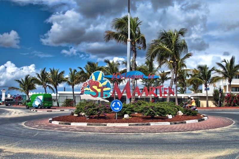 Litorale di Maarten del san, Antille olandesi immagine stock