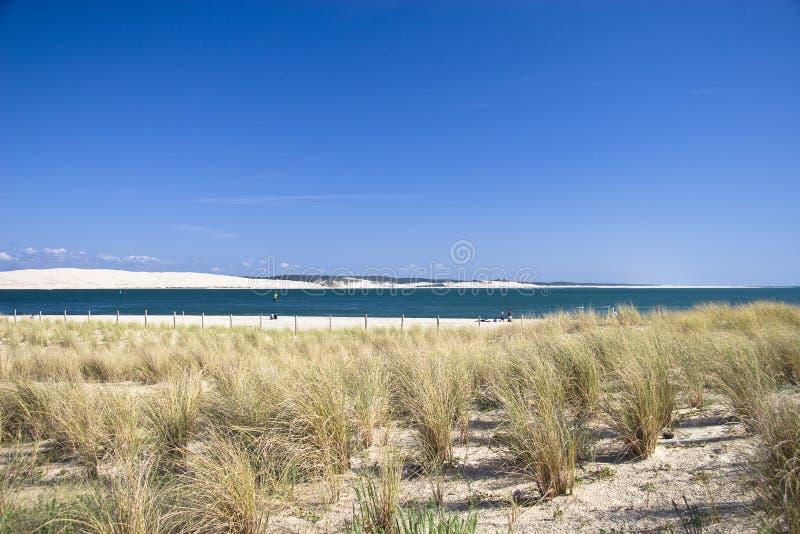 Litorale di mare vicino al Bordeaux fotografia stock