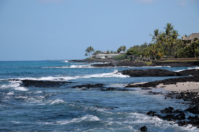 Litorale Hawai di Kona immagine stock libera da diritti