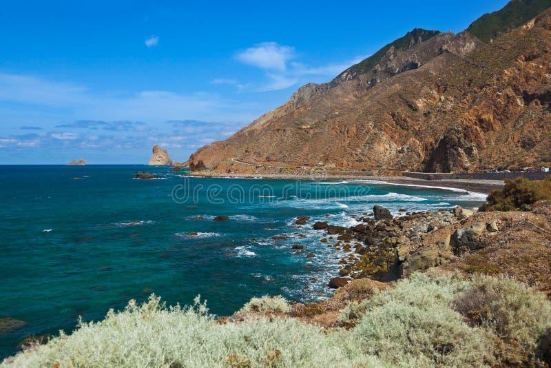 Litorale nell'isola di Tenerife - Spagna color giallo canarino fotografia stock
