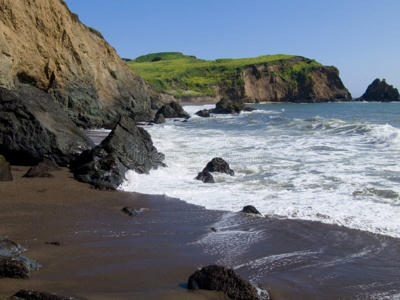 Litorale perfetto della California fotografia stock