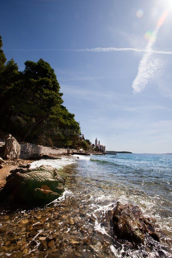 Litorale Rab Croatia fotografia stock libera da diritti