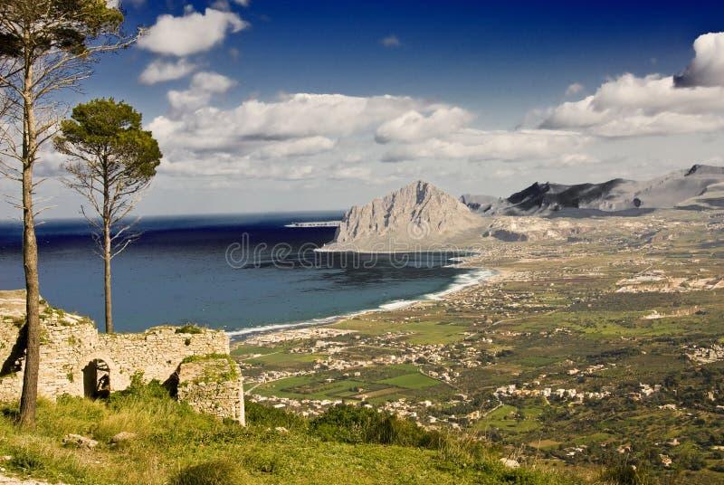 Litorale siciliano fotografia stock libera da diritti