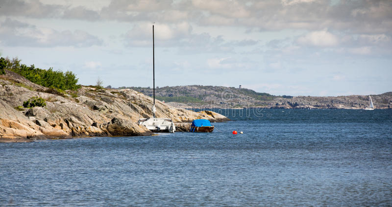 Litorale svedese fotografia stock libera da diritti