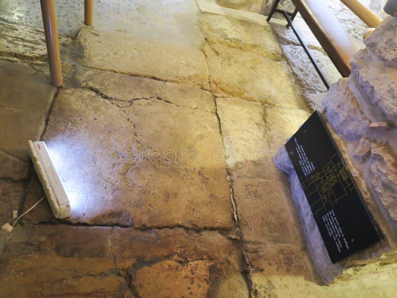 Litostratos in Via Dolorosa in Jeruzalem royalty-vrije stock afbeeldingen