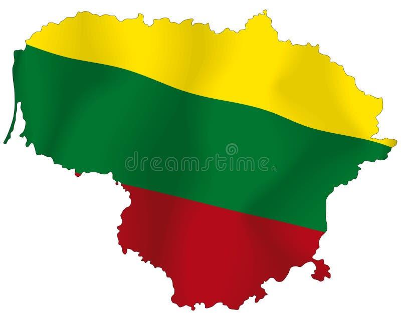 Litouwen vector illustratie