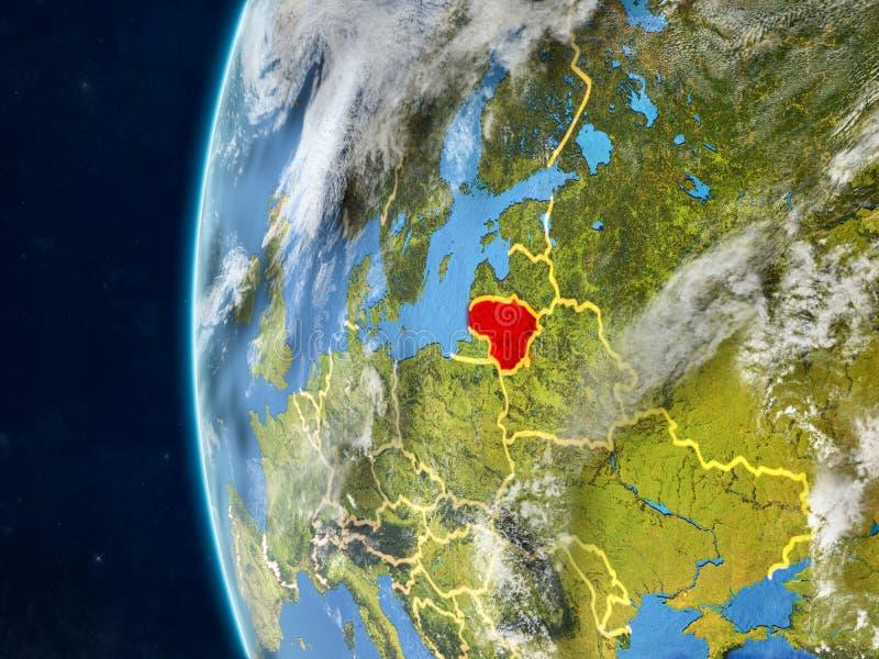 Litouwen op bol van ruimte vector illustratie