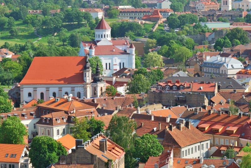 Litouwen. Stad van Vilnius. De orthodoxe Kerk stock foto's