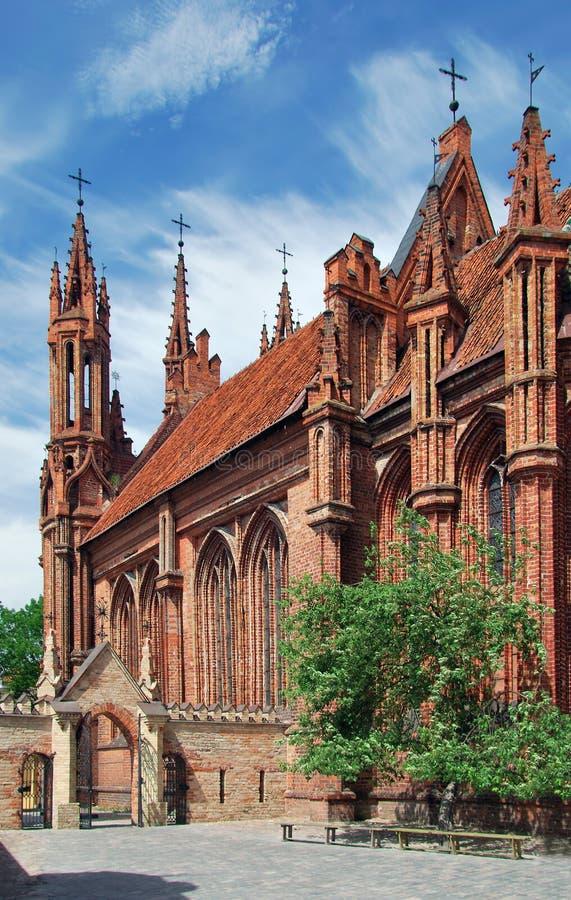 Litouwen. Stad van Vilnius. St. Anne Kerk stock fotografie