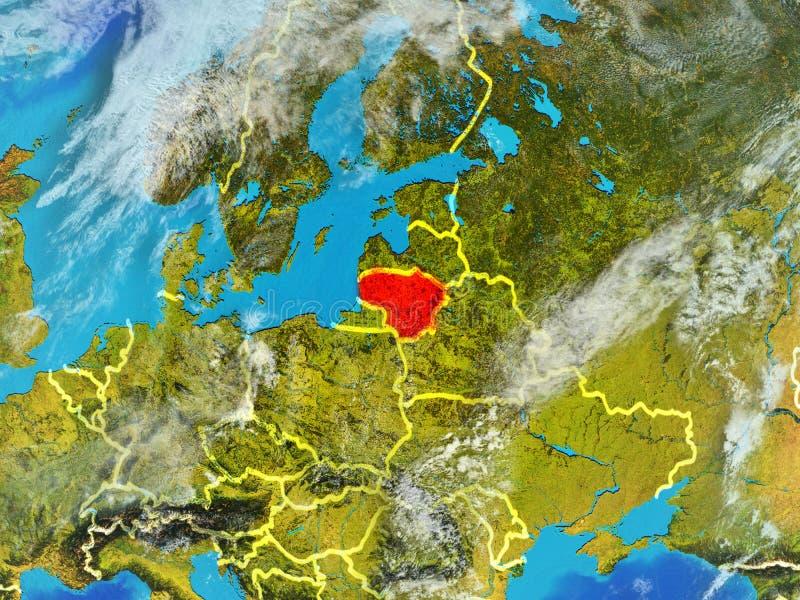 Litouwen ter wereld van ruimte vector illustratie