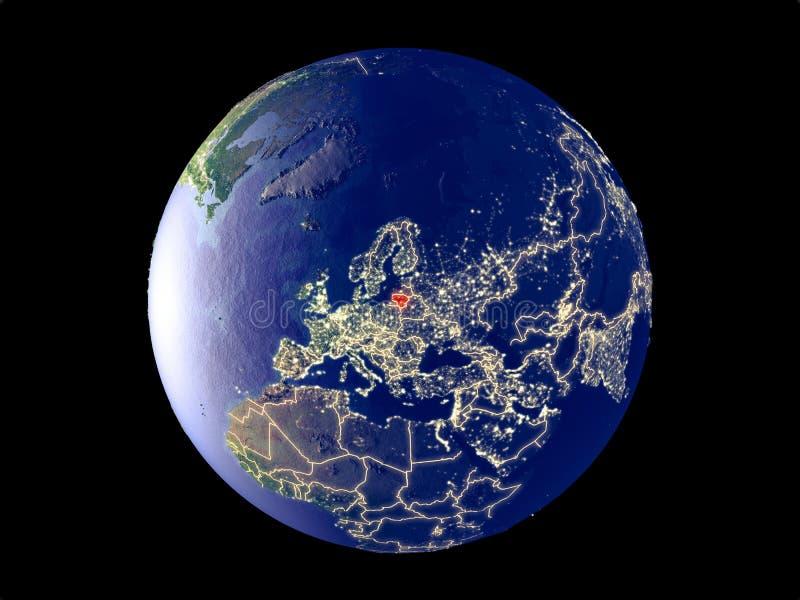 Litouwen ter wereld van ruimte royalty-vrije stock foto