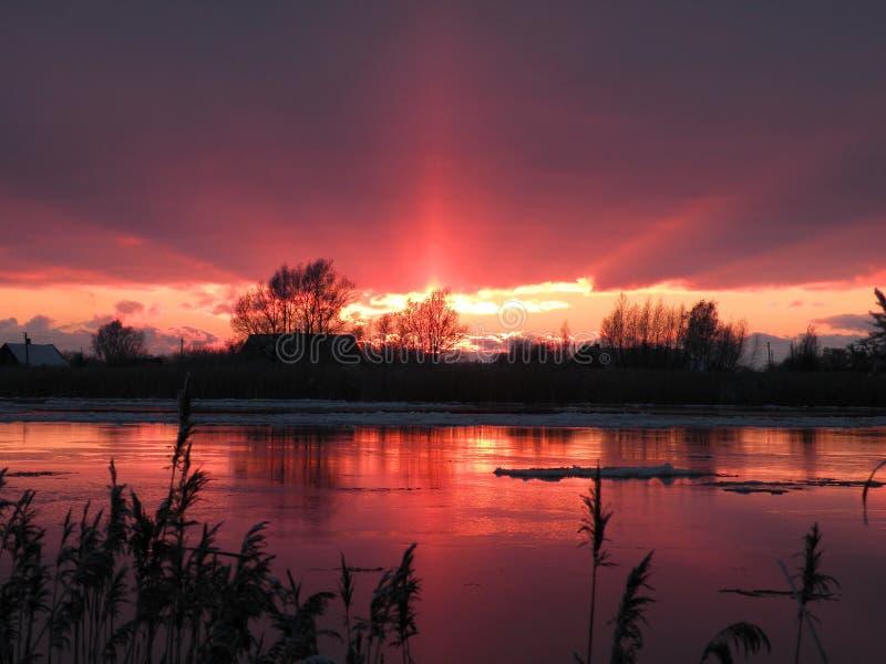 Litouws de winterlandschap stock foto