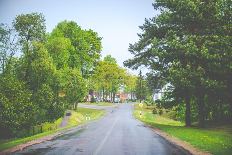 Litouws dorp Andrioniskis stock fotografie