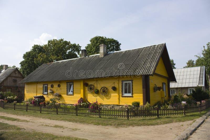 Litouws dorpshuis royalty-vrije stock foto's