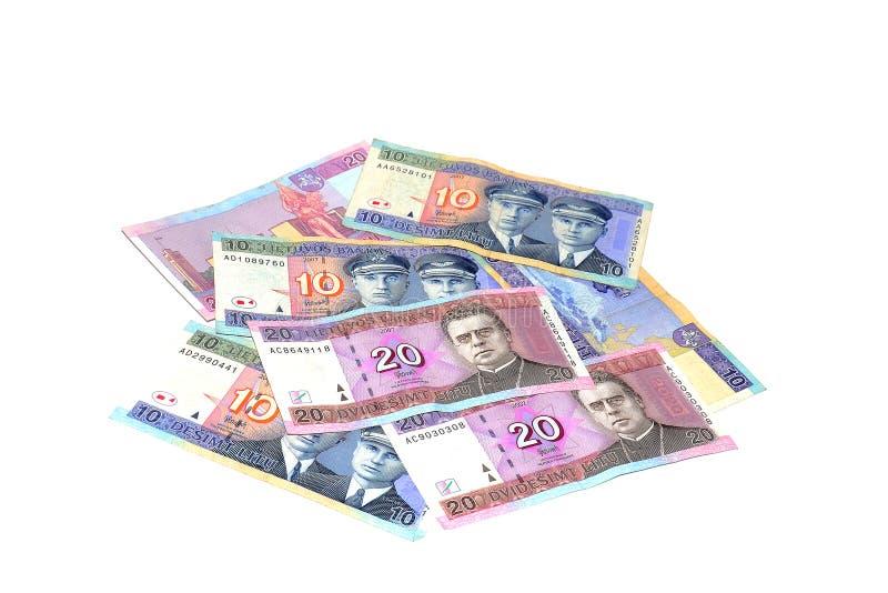 Litouws geld royalty-vrije stock afbeelding
