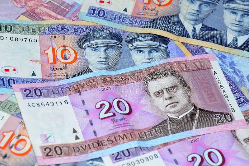 Litouws geld stock foto's