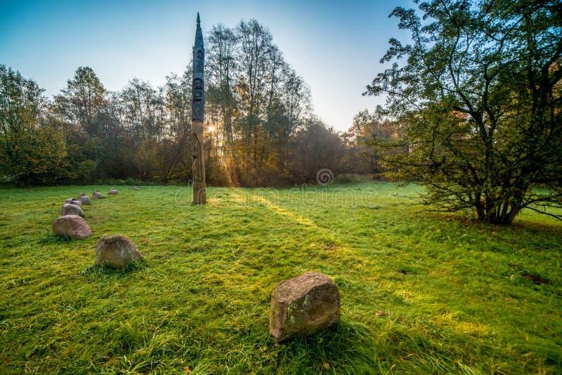 Litouws parklandschap royalty-vrije stock afbeeldingen