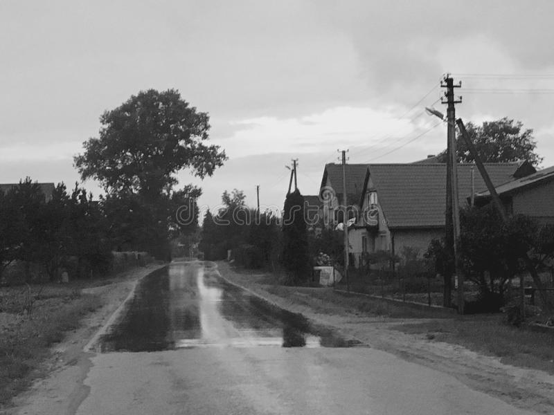 Litouws platteland royalty-vrije stock afbeelding